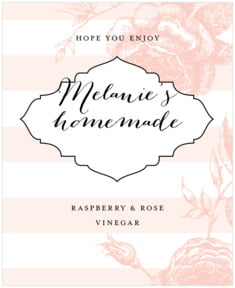 Striped Rose large labels