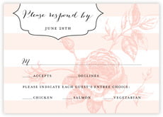 Striped Rose response cards