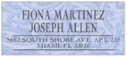 Renaissance designer address labels