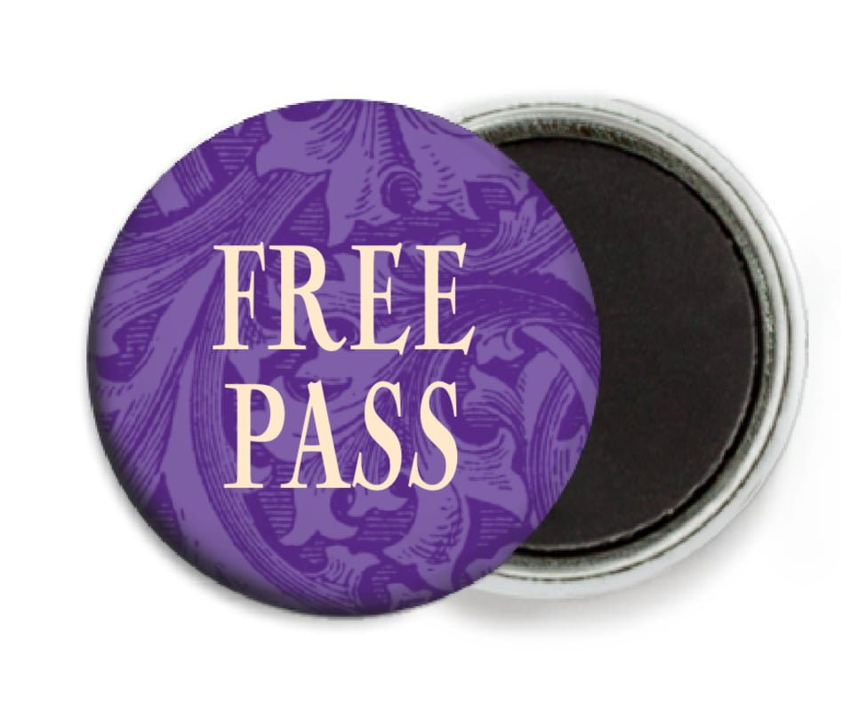custom button magnets - purple - renaissance (set of 6)