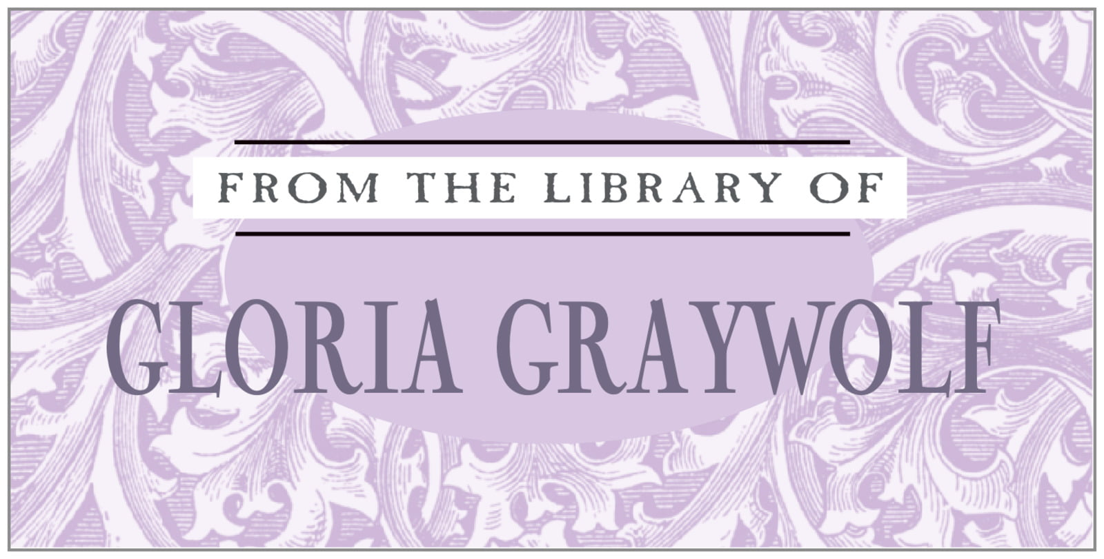bookplates for everyone - lilac - renaissance (set of 24)