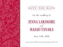 custom save-the-date cards - deep red - renaissance (set of 10)