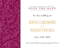 custom save-the-date cards - wine & gold - renaissance (set of 10)