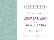 custom save-the-date cards - jade & wine - renaissance (set of 10)