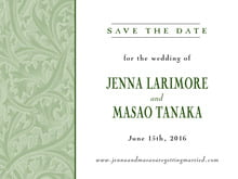 custom save-the-date cards - sage - renaissance (set of 10)