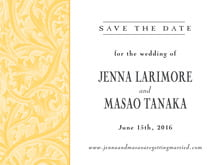 custom save-the-date cards - sunburst - renaissance (set of 10)