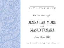 custom save-the-date cards - periwinkle - renaissance (set of 10)