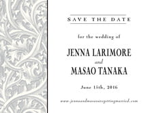custom save-the-date cards - tuxedo - renaissance (set of 10)