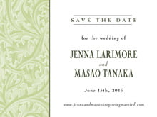 custom save-the-date cards - green tea - renaissance (set of 10)