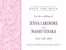 custom save-the-date cards - pale pink - renaissance (set of 10)