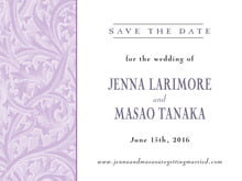 custom save-the-date cards - lilac - renaissance (set of 10)