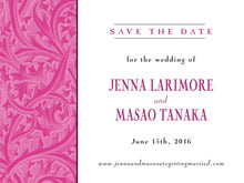 custom save-the-date cards - bright pink - renaissance (set of 10)