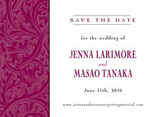 custom save-the-date cards - burgundy - renaissance (set of 10)