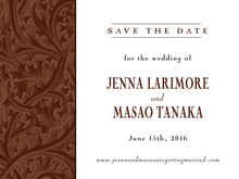 custom save-the-date cards - chocolate - renaissance (set of 10)