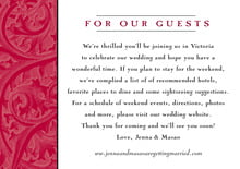custom enclosure cards - deep red - renaissance (set of 10)