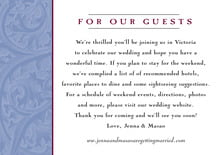 custom enclosure cards - blue & wine - renaissance (set of 10)