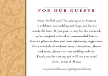 custom enclosure cards - gold & wine - renaissance (set of 10)