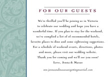 custom enclosure cards - jade & wine - renaissance (set of 10)