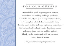 custom enclosure cards - periwinkle - renaissance (set of 10)