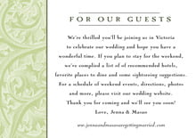 custom enclosure cards - green tea - renaissance (set of 10)
