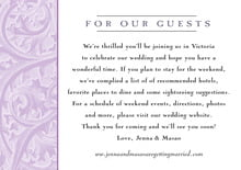 custom enclosure cards - lilac - renaissance (set of 10)