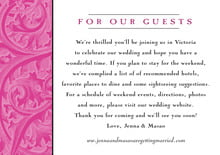 custom enclosure cards - bright pink - renaissance (set of 10)