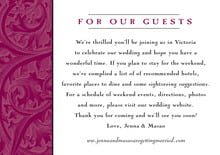 custom enclosure cards - burgundy - renaissance (set of 10)