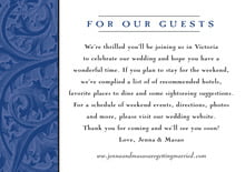 custom enclosure cards - deep blue - renaissance (set of 10)