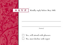 custom response cards - deep red - renaissance (set of 10)
