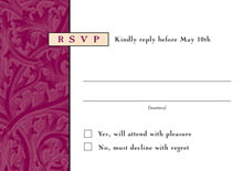 custom response cards - wine & gold - renaissance (set of 10)