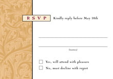 custom response cards - gold & wine - renaissance (set of 10)