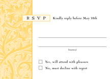 custom response cards - sunburst - renaissance (set of 10)