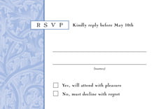 custom response cards - periwinkle - renaissance (set of 10)