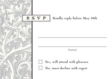 custom response cards - tuxedo - renaissance (set of 10)