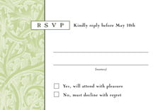 custom response cards - green tea - renaissance (set of 10)