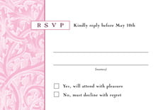 custom response cards - pale pink - renaissance (set of 10)
