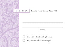 custom response cards - lilac - renaissance (set of 10)