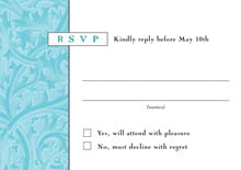 custom response cards - bahama blue - renaissance (set of 10)