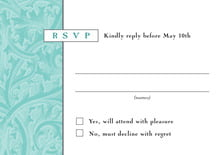 custom response cards - aruba - renaissance (set of 10)