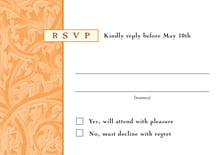 custom response cards - tangerine - renaissance (set of 10)