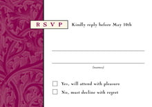 custom response cards - burgundy - renaissance (set of 10)
