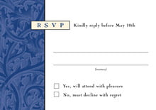 custom response cards - deep blue - renaissance (set of 10)
