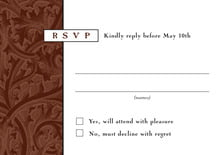 custom response cards - chocolate - renaissance (set of 10)