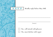 custom response cards - sky - renaissance (set of 10)