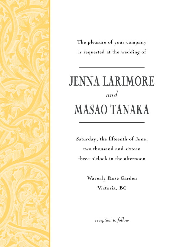 custom invitations - sunburst - renaissance (set of 10)
