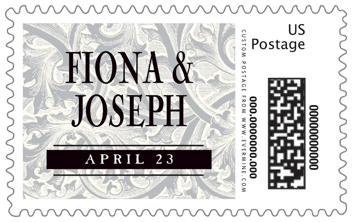 custom large postage stamps - tuxedo - renaissance (set of 20)