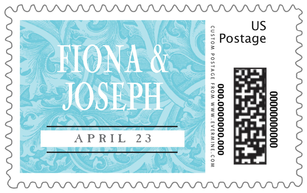 custom large postage stamps - bahama blue - renaissance (set of 20)