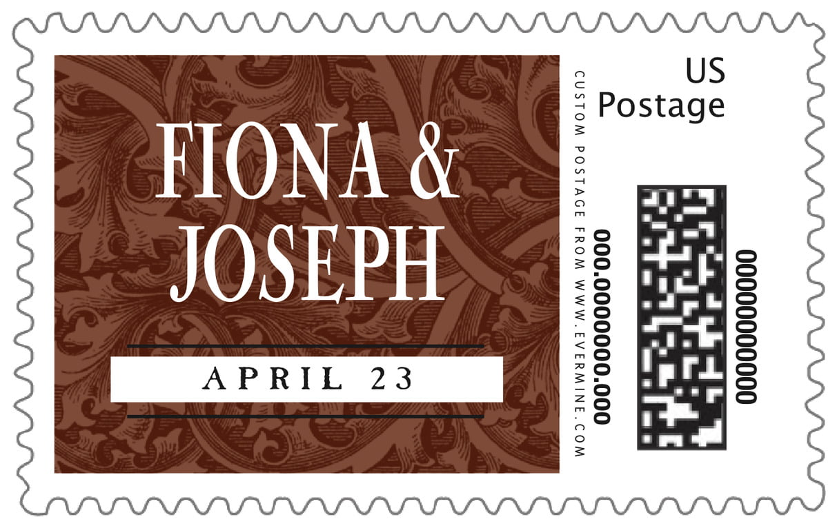 custom large postage stamps - chocolate - renaissance (set of 20)