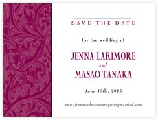 Renaissance save the date cards