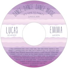 Ruffled Ombre Cd Label In Radiant Orchid